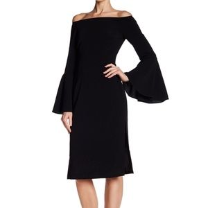 Keepsake Black Harmony Off-the-Shoulder Dress
